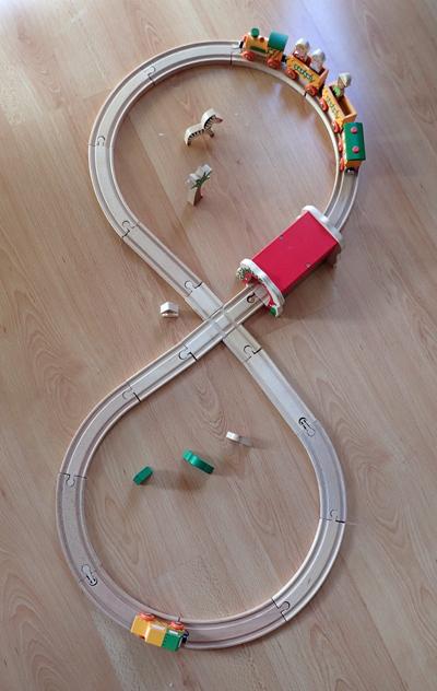 circuit de train en 8